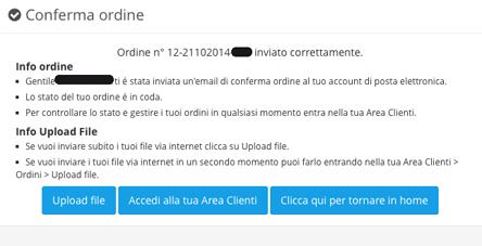 Upload e invio file